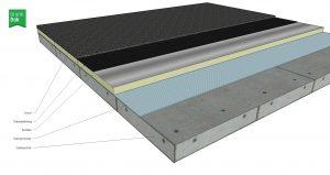 Warm beton dak